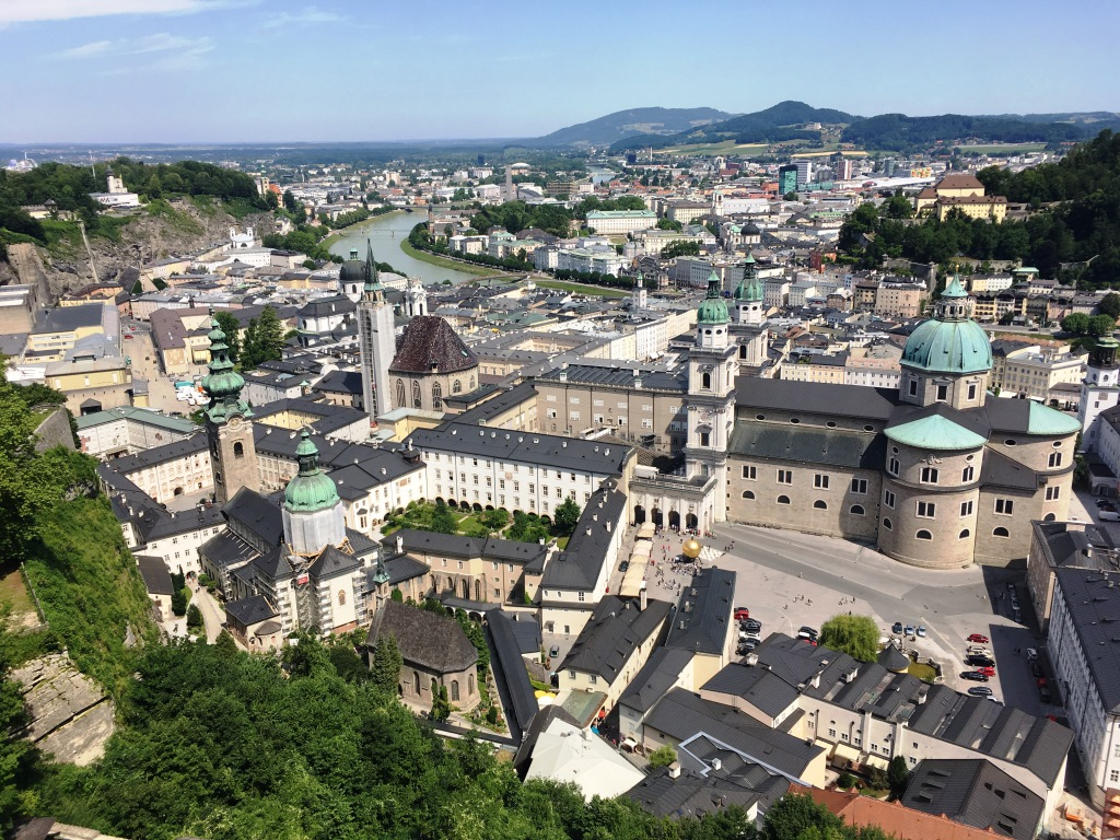 Hohensalzburg view to the north