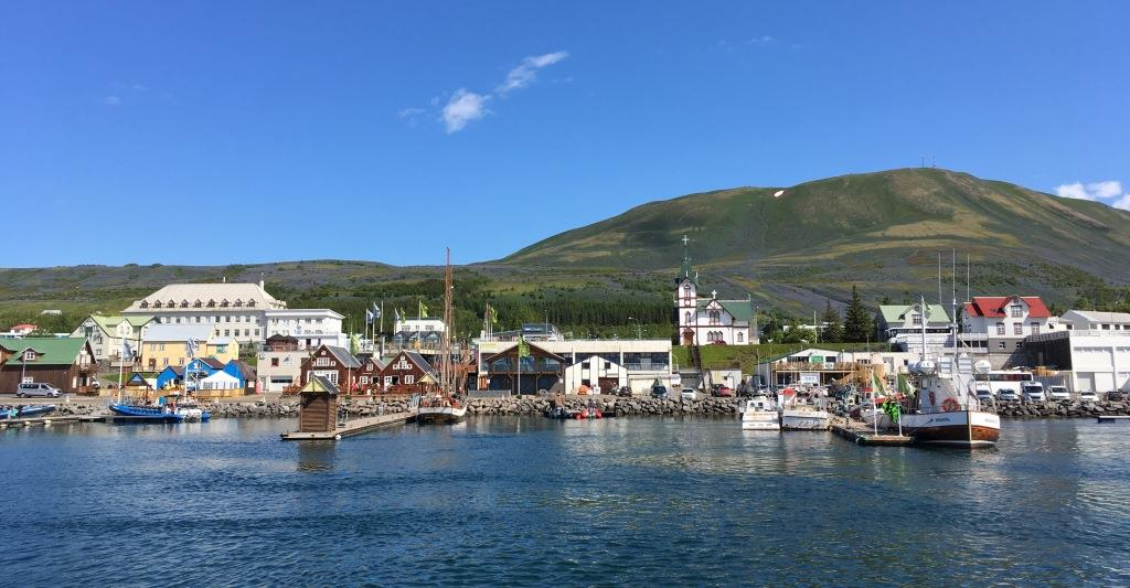 Husavik Harbor sight