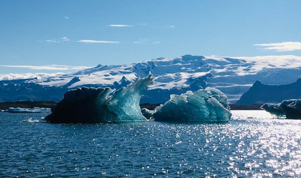 Icebergs on Jökulsarlon Glacier Lagoon