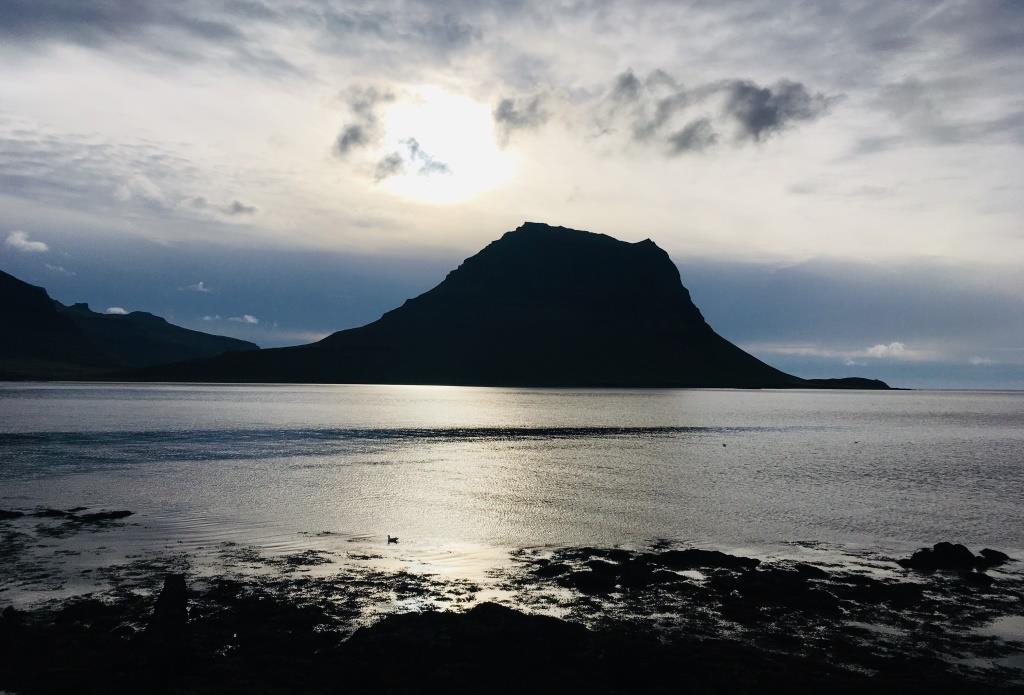 Kirkjufell Mountain by night