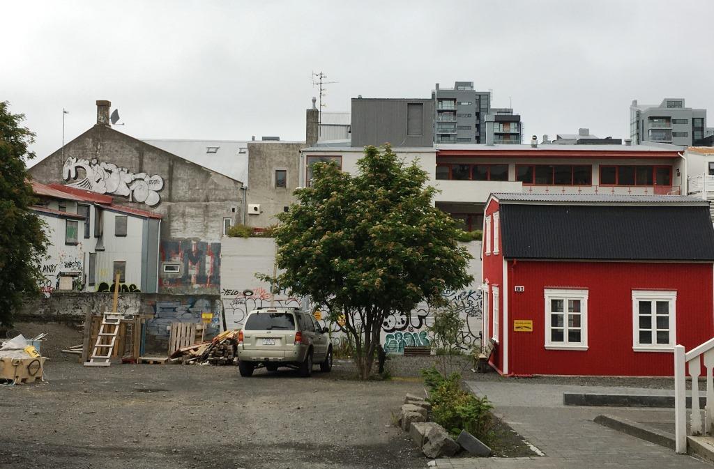 Backyard in Reykjavik