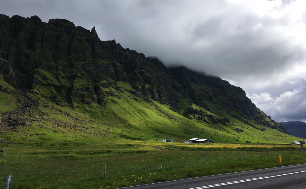 steep cMountains in Iceland