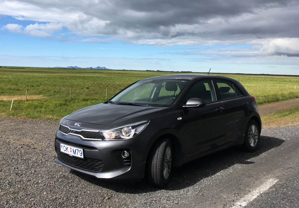 our rental car in Iceland